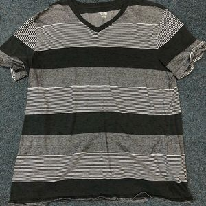 Men's striped v neck t-shirt